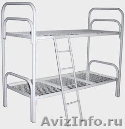 Двухъярусные металлические кровати для бытовок, кровати для общежитий, опт., Объявление #1479519